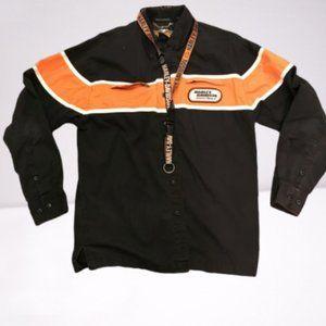 Harley Davidson Vintage Pitt Crew Shirt & Lanyard